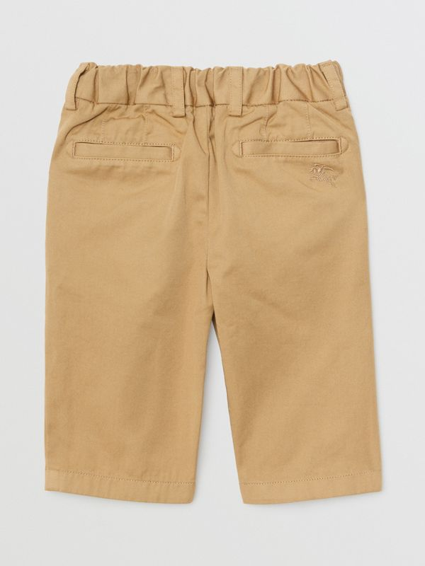 Cotton Chinos in Taupe - Children | Burberry - cell image 3