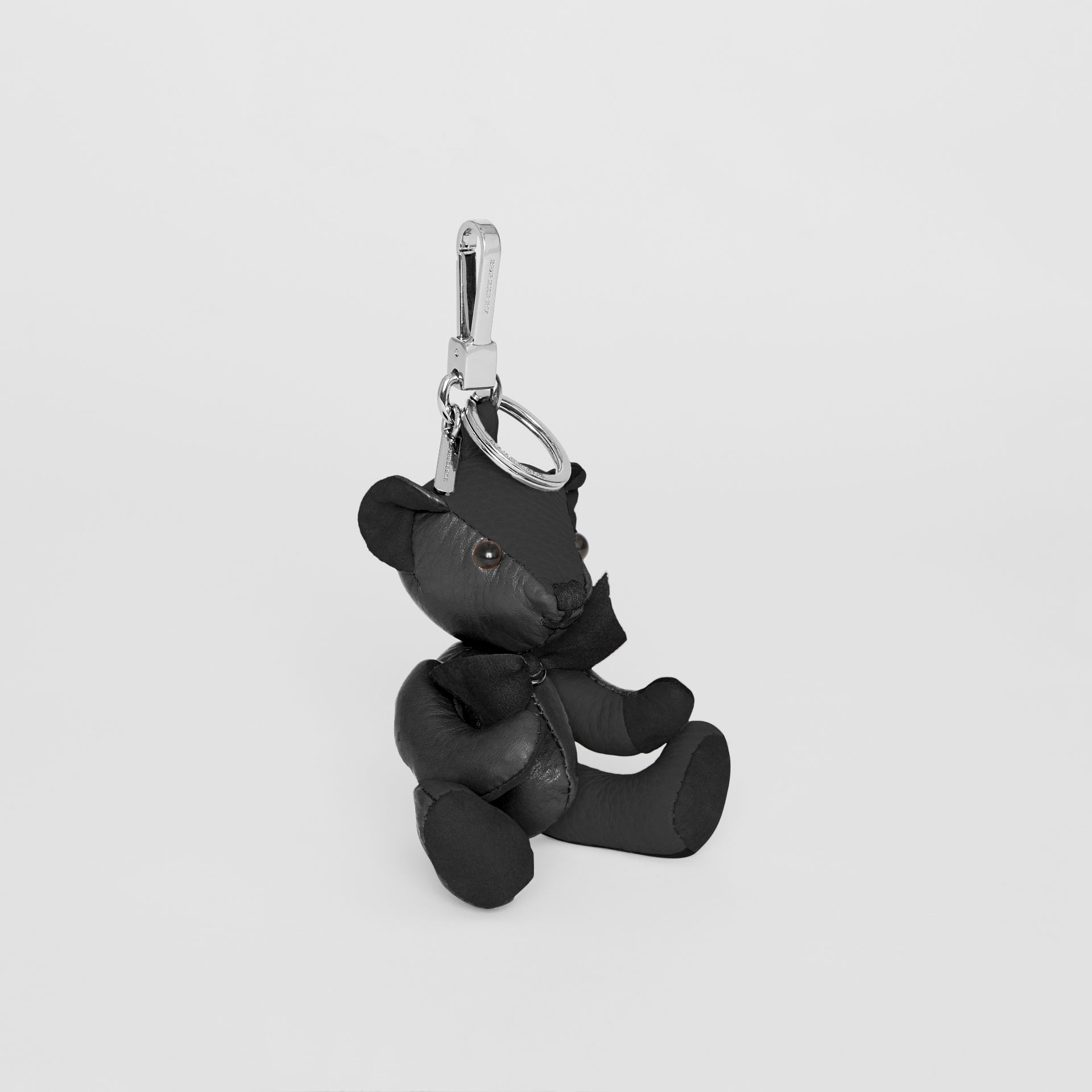 Thomas Bear Charm in Leather in Black | Burberry United Kingdom - gallery image 0