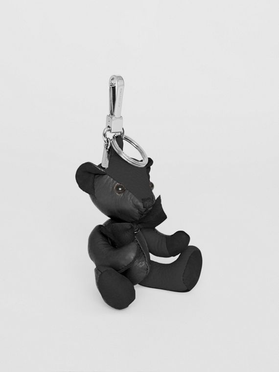 Thomas Bear Charm in Leather in Black