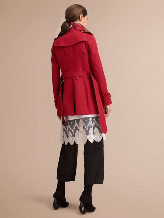 The Sandringham – Short Heritage Trench Coat in Parade Red - cell image 2