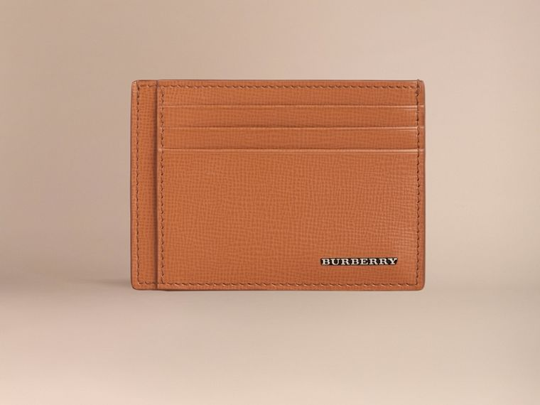 London Leather Card Case in Tan | Burberry - cell image 1