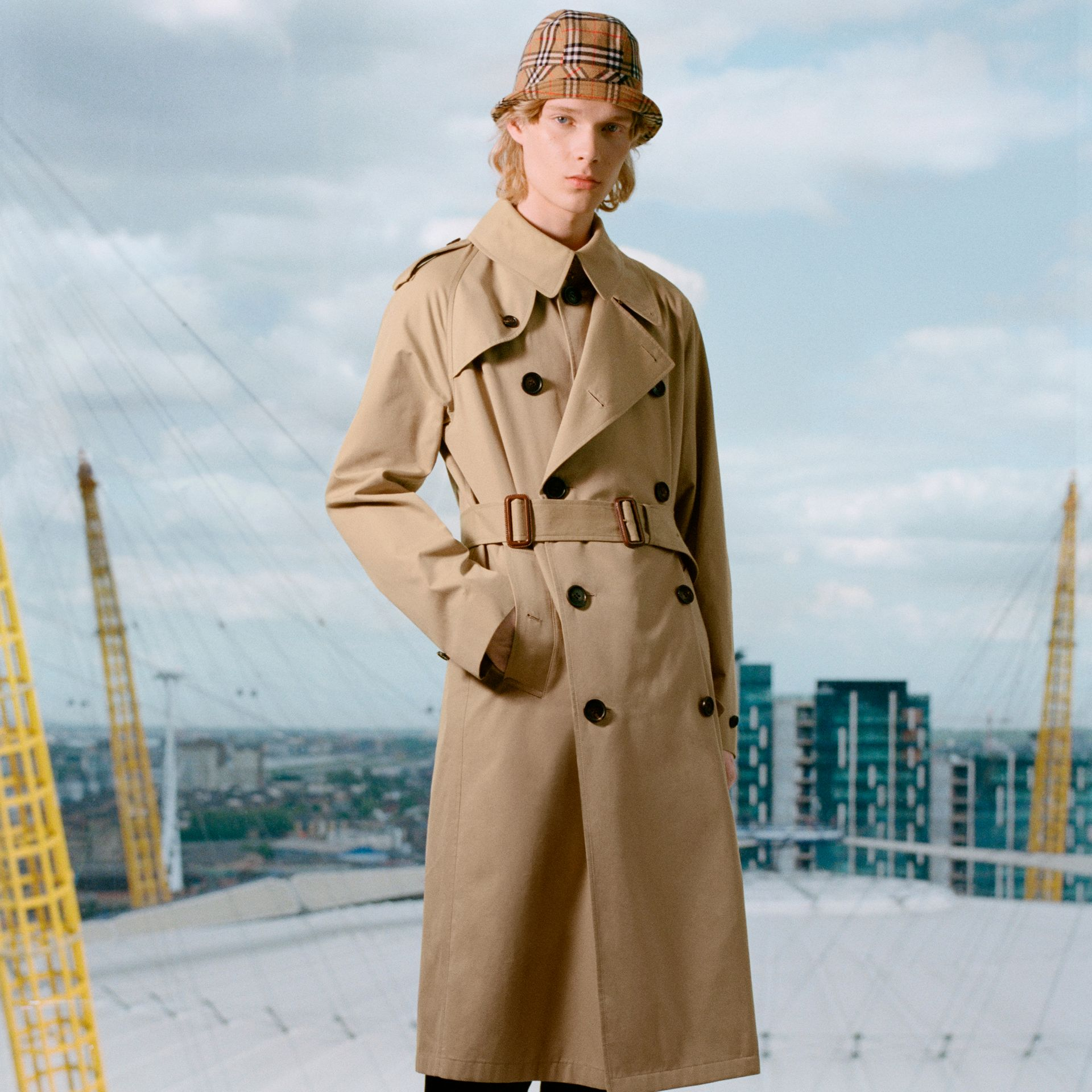 Gosha x Burberry Reconstructed Trench Coat in Honey | Burberry - gallery image 1