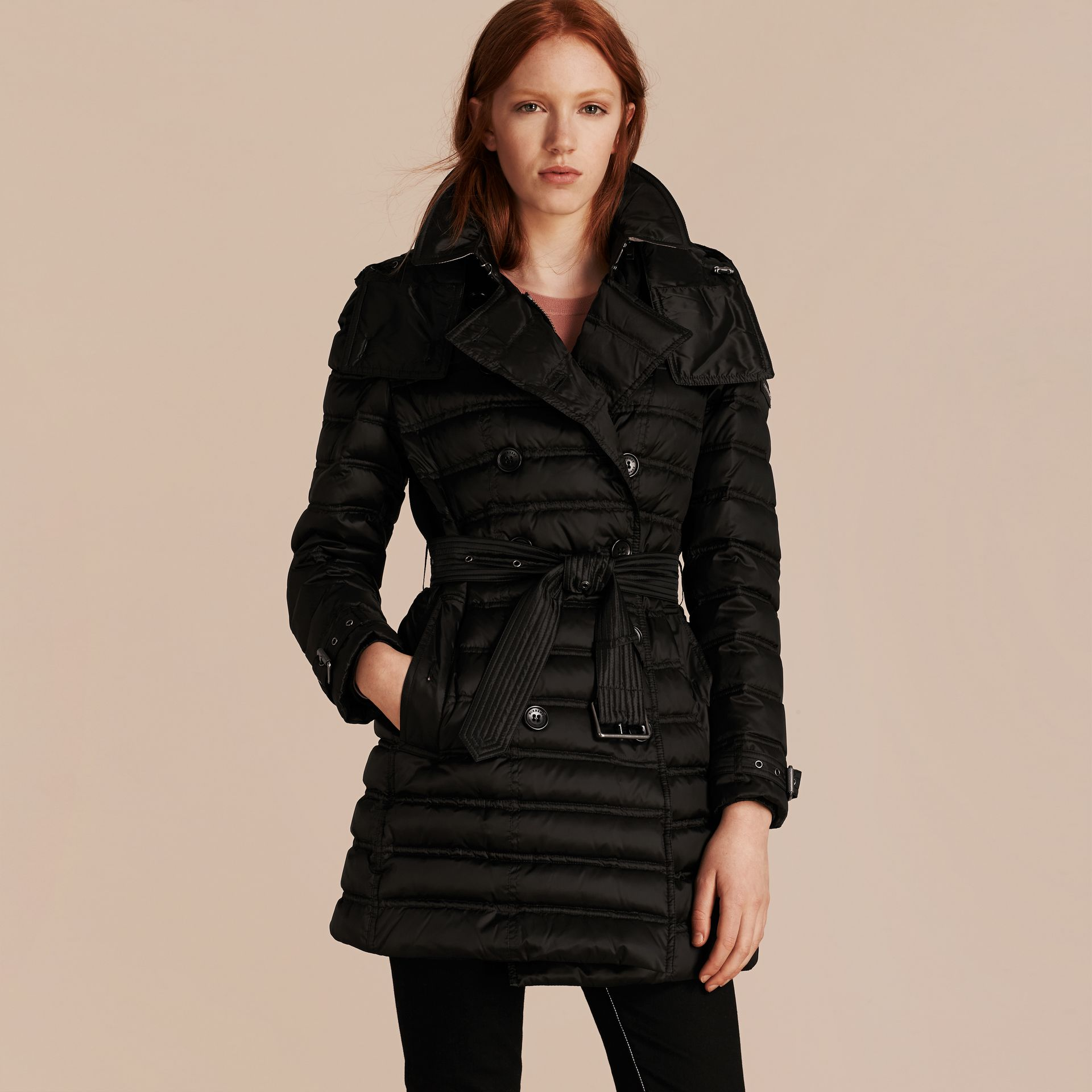 Black Down-filled Puffer Coat Black - gallery image 7