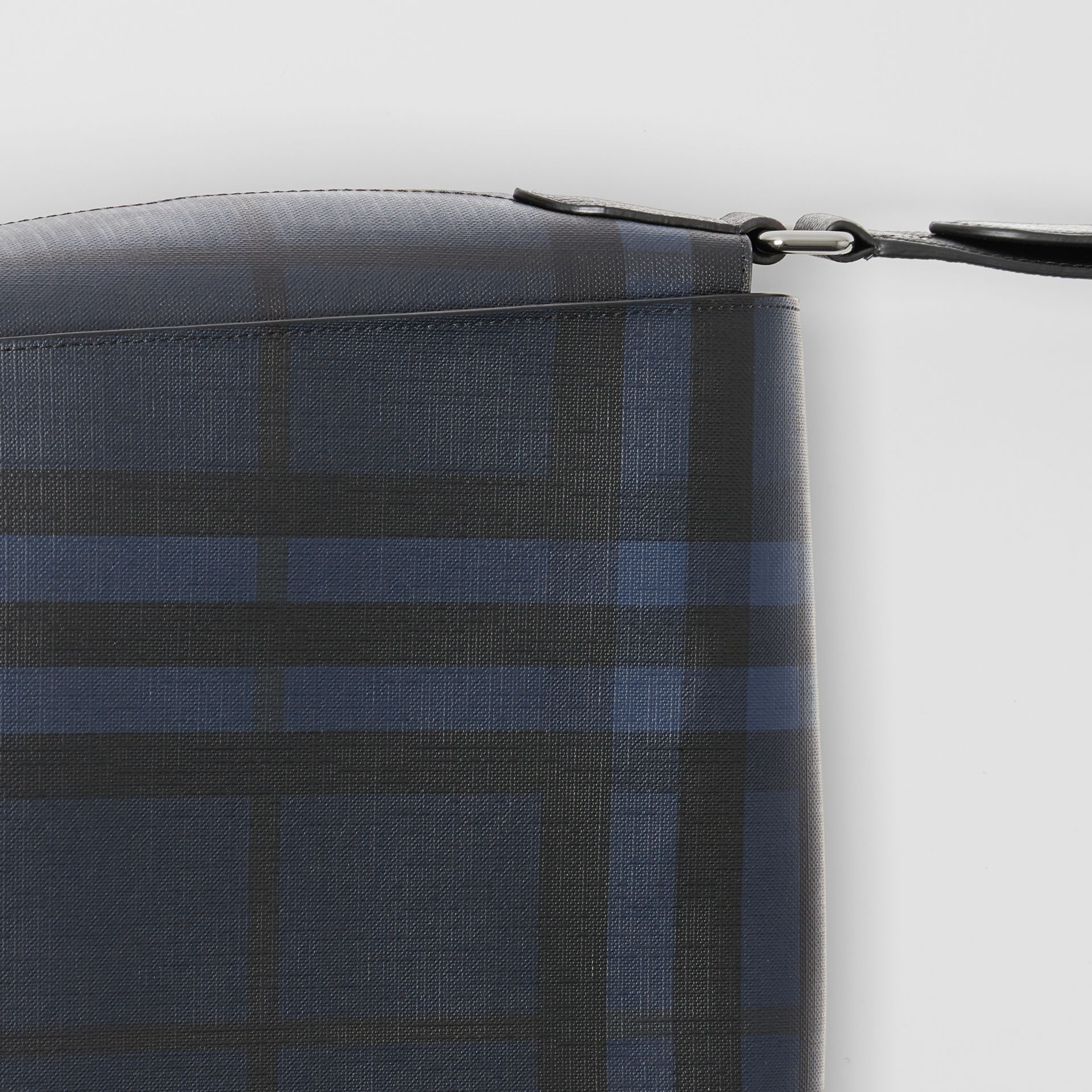 Large London Check Messenger Bag in Navy/black | Burberry United Kingdom - gallery image 1