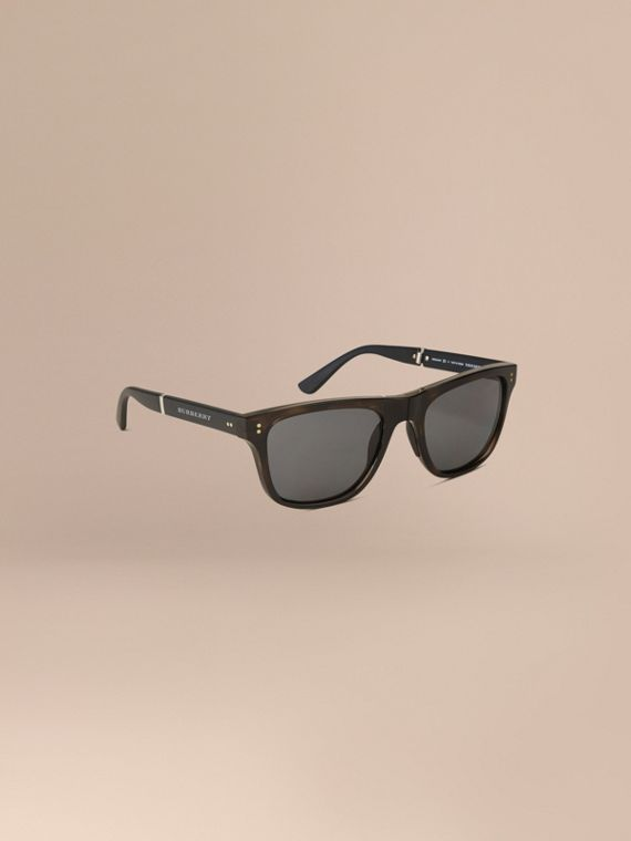 Faltbare, polarisierte Sonnenbrille mit rechteckigem Gestell