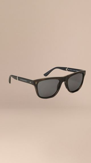 Folding Rectangular Frame Polarised Sunglasses