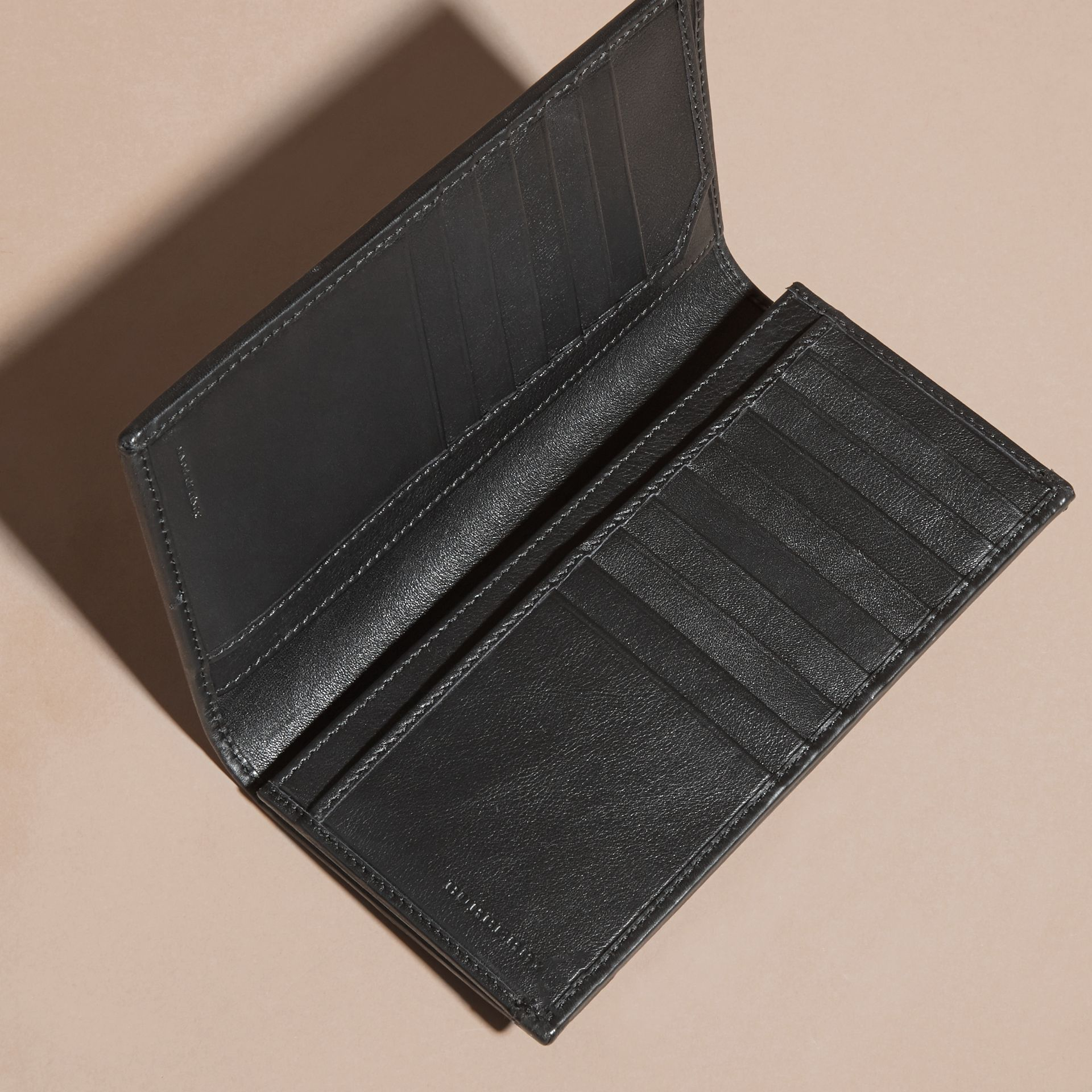 Small Horseferry Check Currency Wallet in Charcoal/black - Men | Burberry - gallery image 5