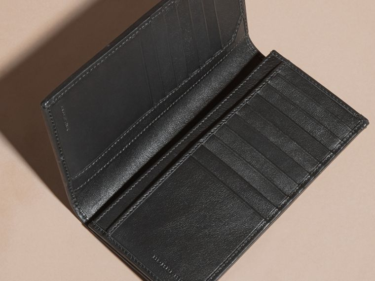 Small Horseferry Check Currency Wallet in Charcoal/black - Men | Burberry Australia - cell image 4