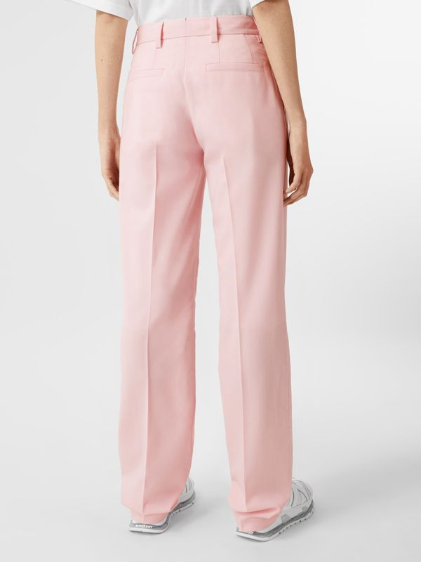 Pocket Detail Tumbled Wool Tailored Trousers in Soft Pink | Burberry United Kingdom - cell image 2