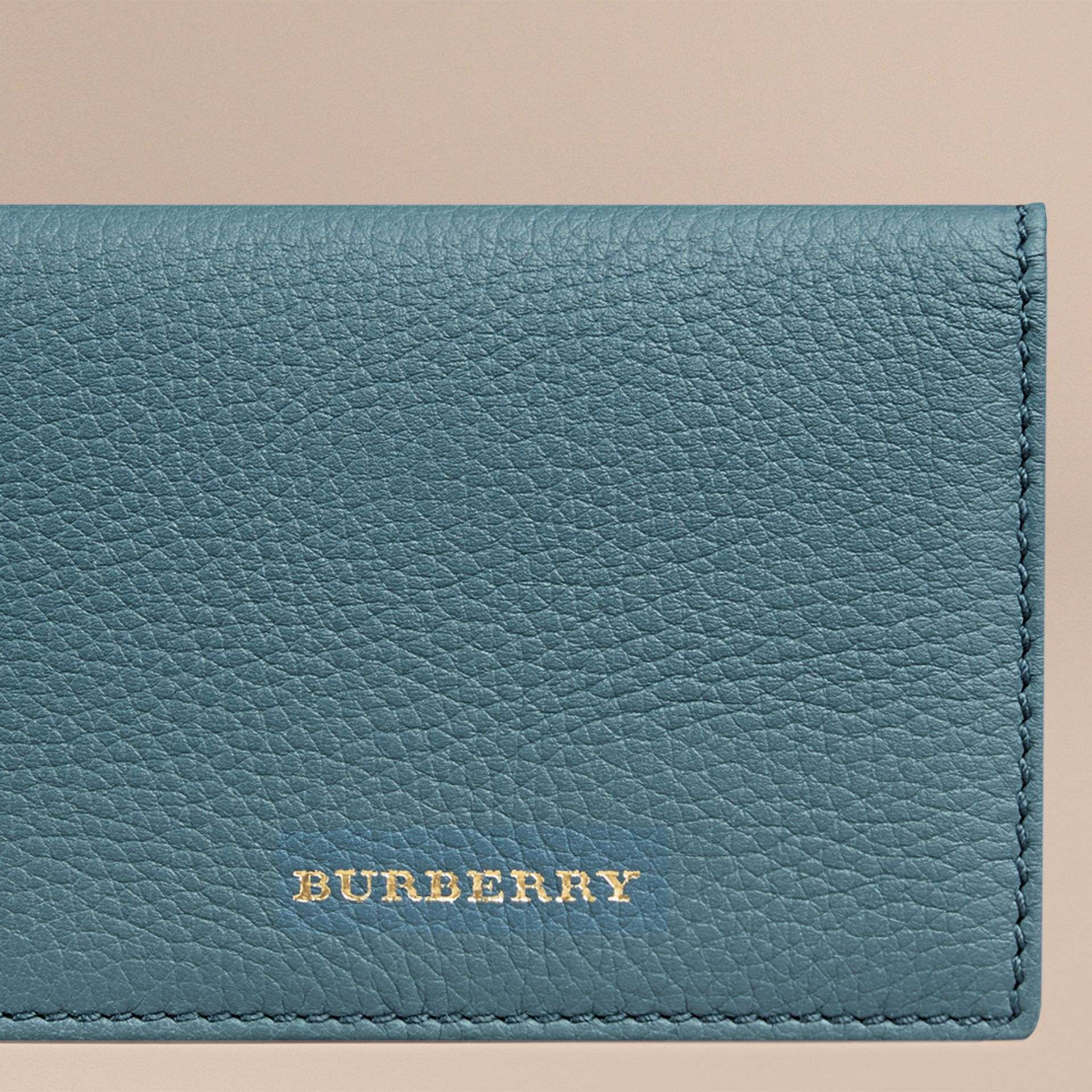 Dusty teal Grainy Leather Card Case Dusty Teal - gallery image 2
