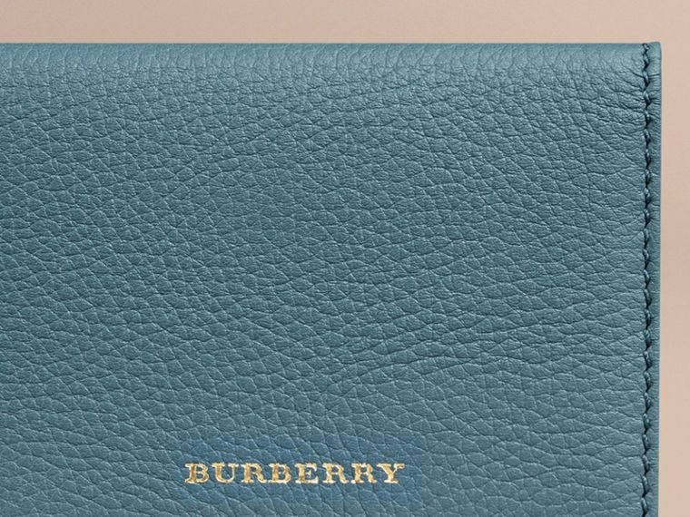 Dusty teal Grainy Leather Card Case Dusty Teal - cell image 1