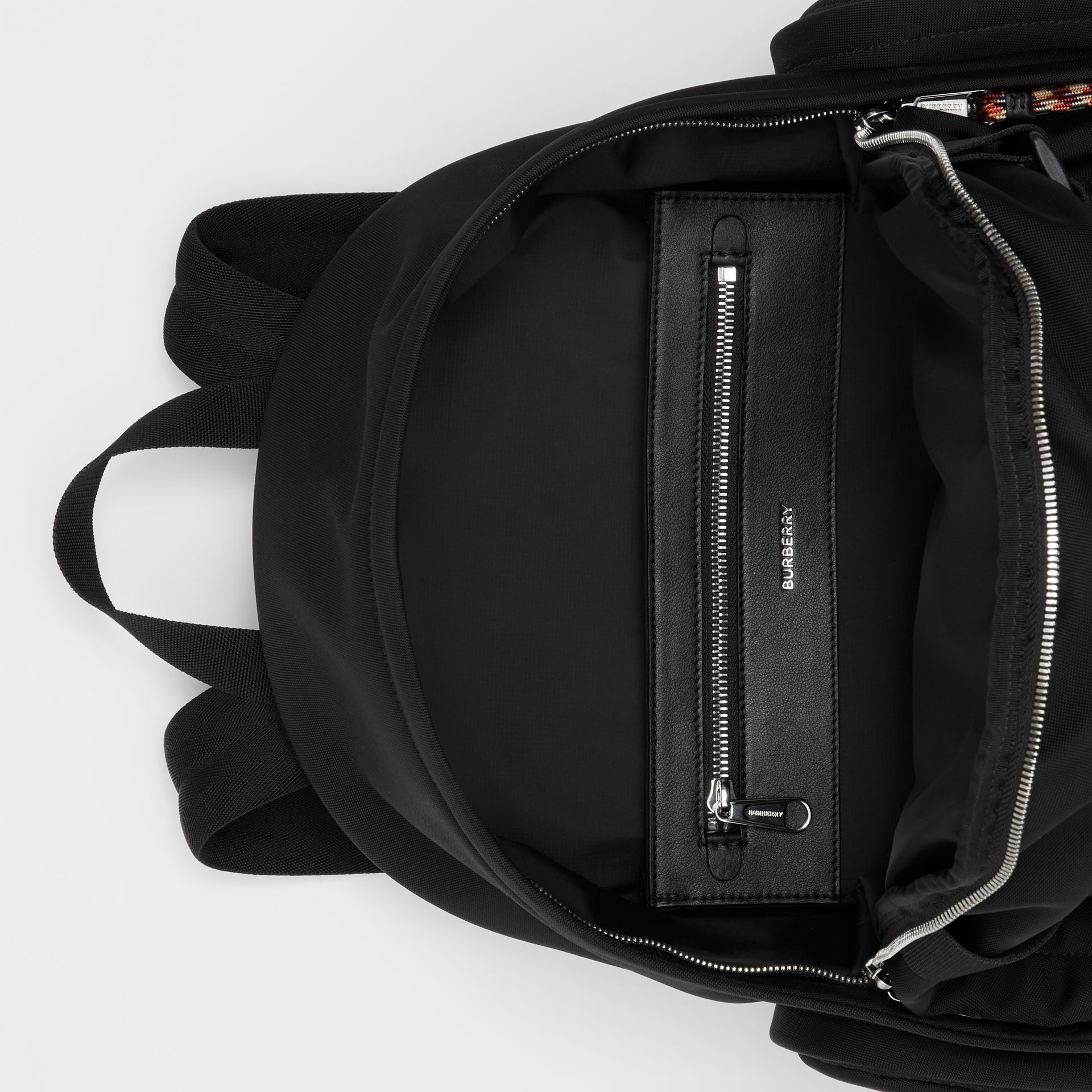 Large Logo and Kingdom Detail Nevis Backpack in Black/white | Burberry Hong Kong S.A.R - gallery image 5