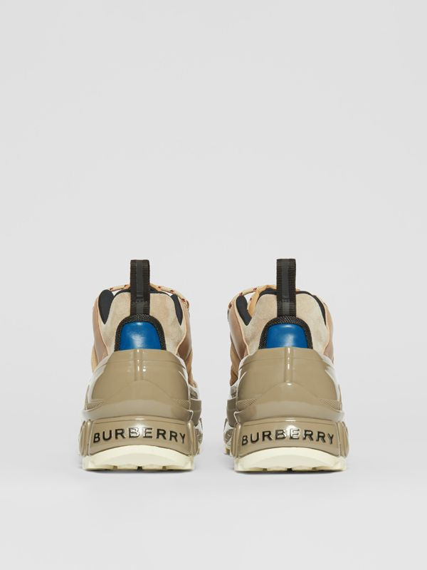 Suede, Mesh and Leather Arthur Sneakers in Beige | Burberry Australia - cell image 3