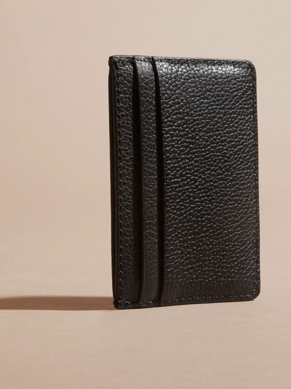 Black Grainy London Leather Card Case Black - cell image 3