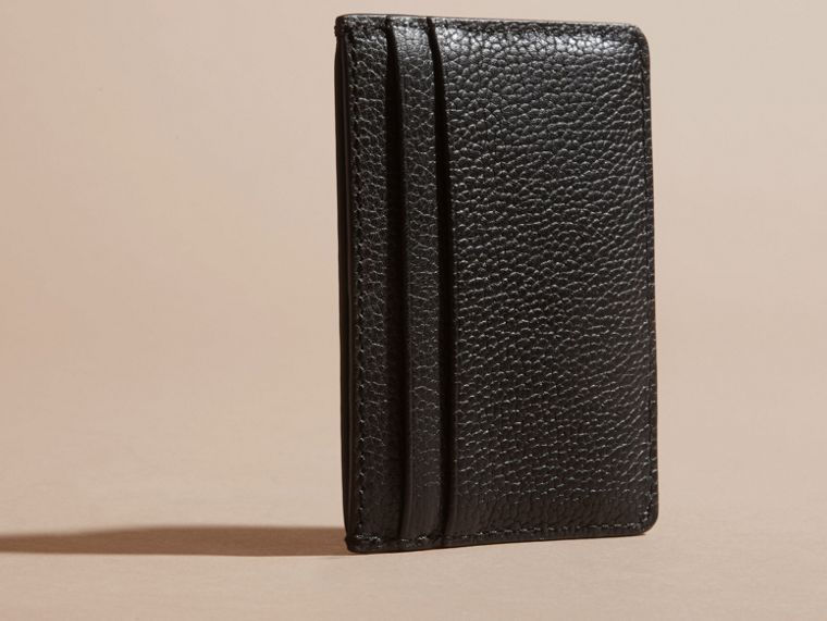 Black Grainy London Leather Card Case Black - cell image 4