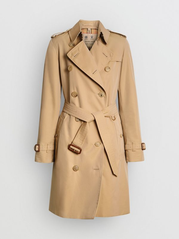 The Kensington Heritage Trench Coat in Honey - Women | Burberry - cell image 3