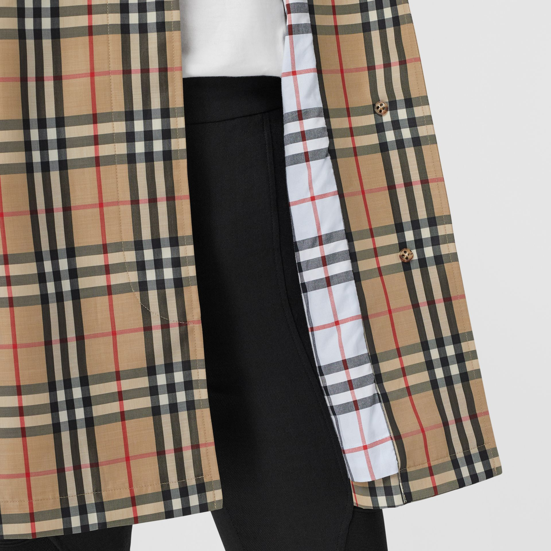 Vintage Check Recycled Polyester Car Coat in Archive Beige - Women | Burberry United States - gallery image 7