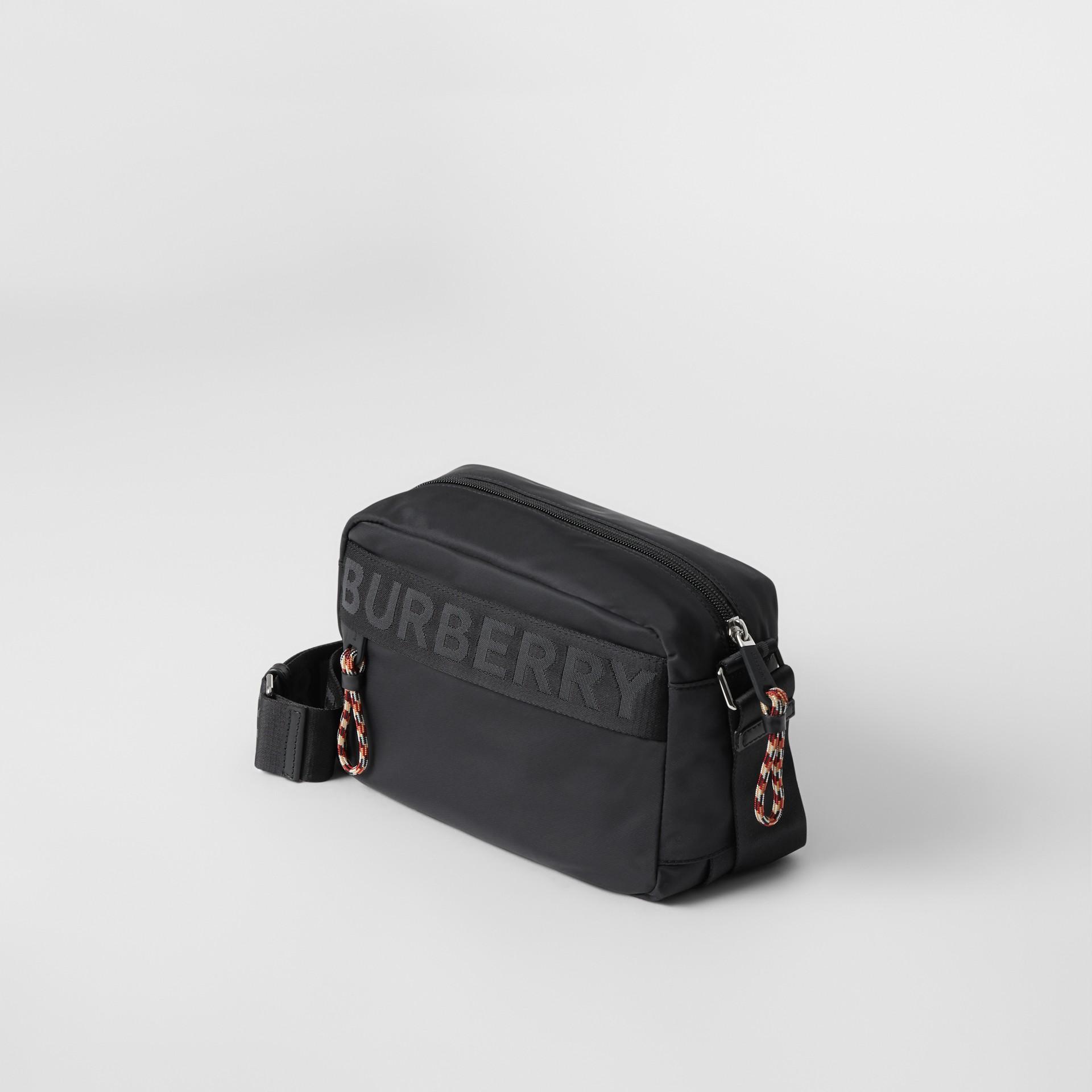 Logo Detail Crossbody Bag in Black - Men | Burberry - gallery image 4