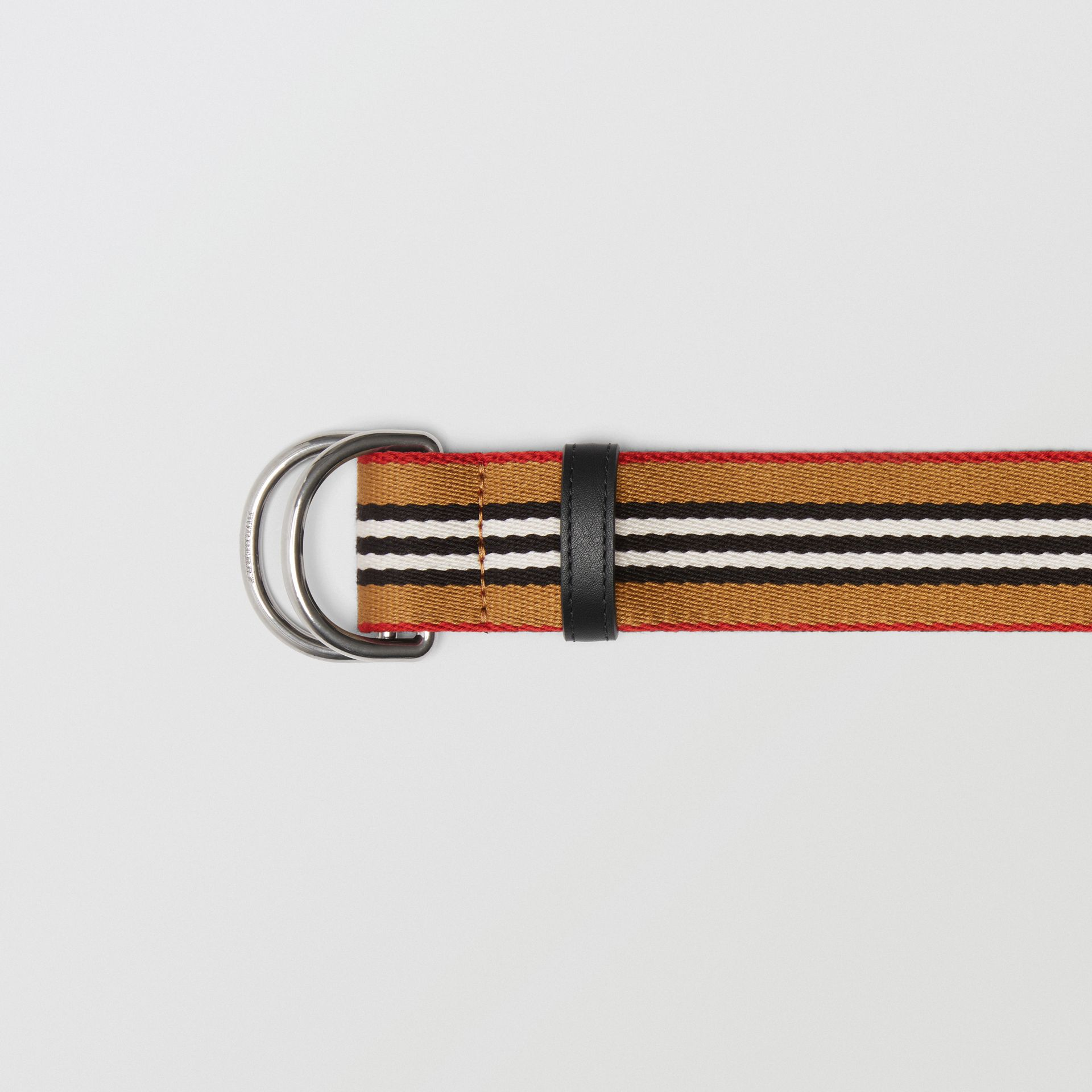Heritage Stripe Double D-ring Belt in Vintage Check - Women | Burberry - gallery image 1