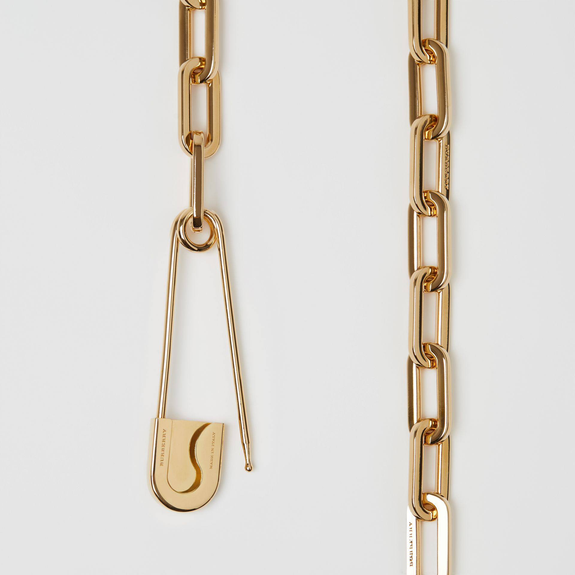 Crystal Daisy Kilt Pin Gold-plated Link Drop Necklace in Light - Women | Burberry - gallery image 1