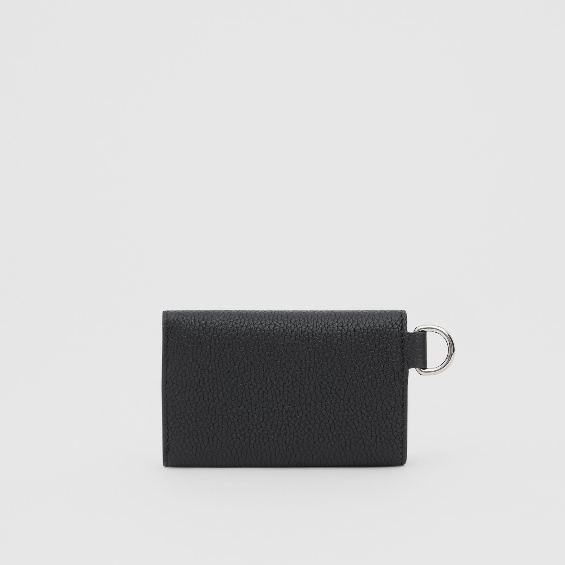 Small Logo Graphic Grainy Leather Folding Wallet in Black - Men | Burberry United Kingdom - gallery image 5