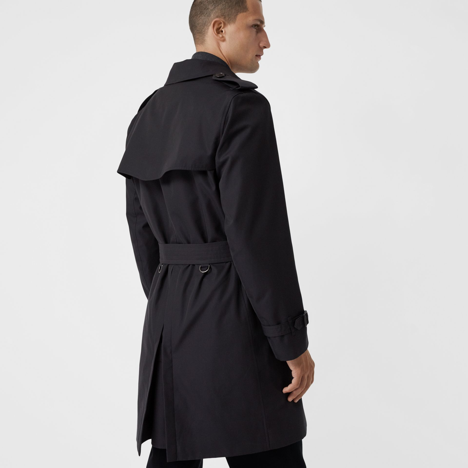 Cotton Gabardine Trench Coat with Warmer in Midnight - Men | Burberry United Kingdom - gallery image 2