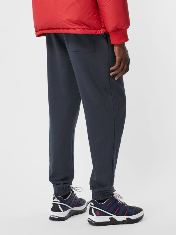 Logo Graphic Cotton Trackpants in Navy - Men | Burberry - cell image 2