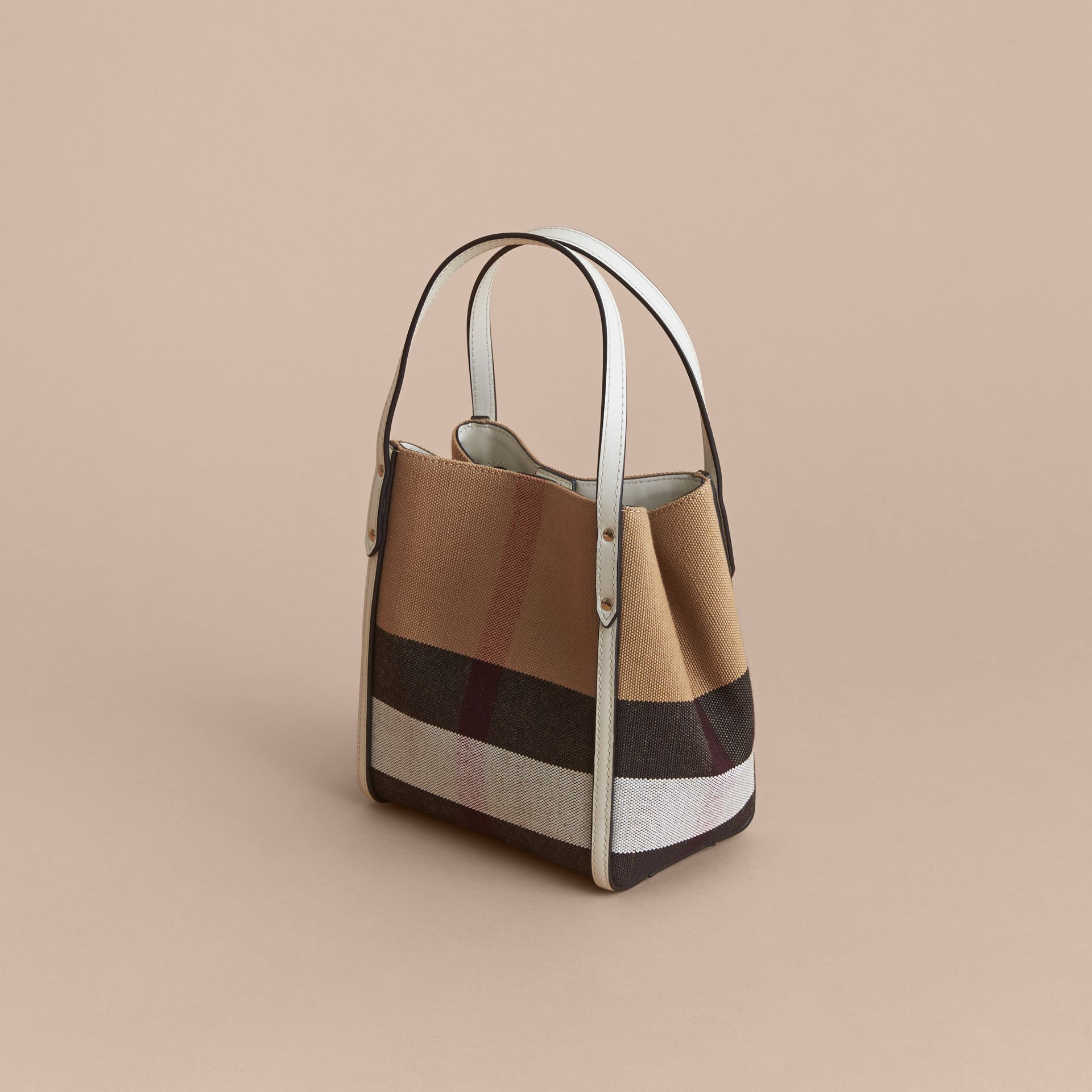 Canvas Check Tote Bag | Burberry - gallery image 3