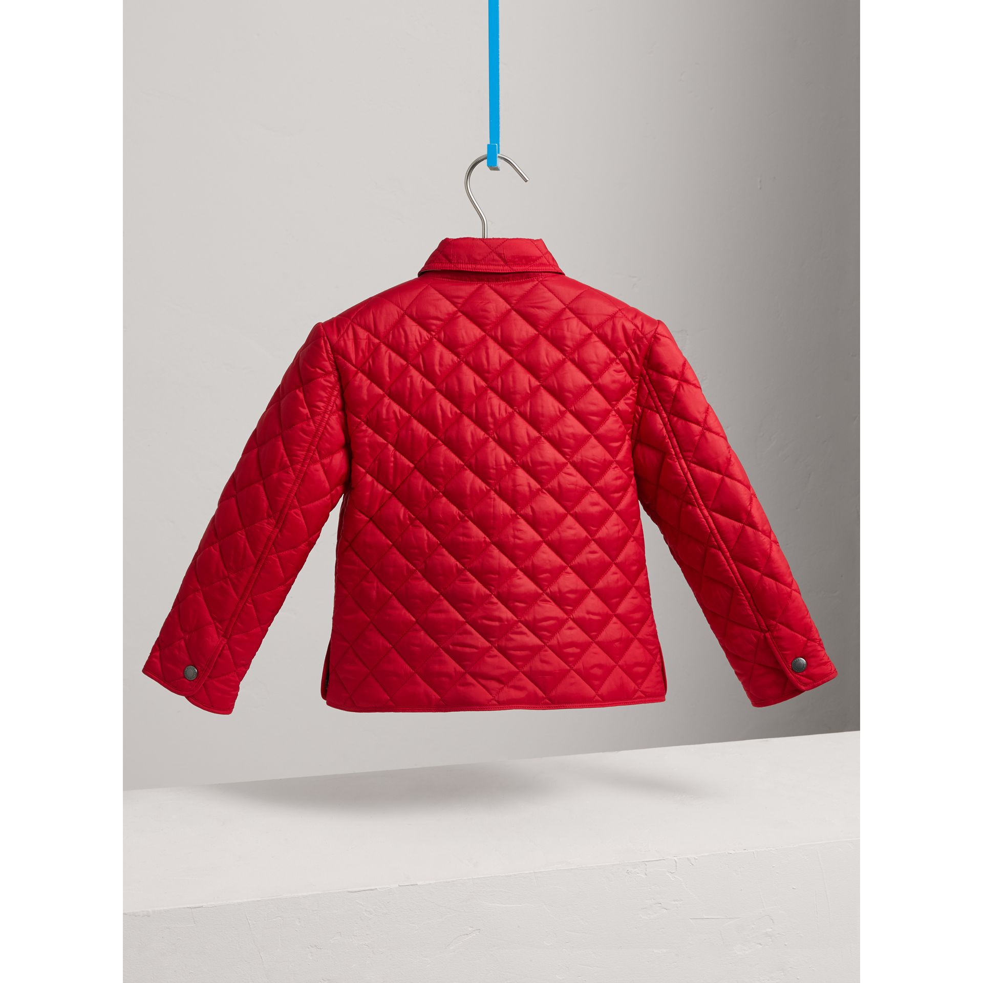 Diamond Quilted Jacket in Bright Cherry Red - Boy | Burberry - gallery image 4