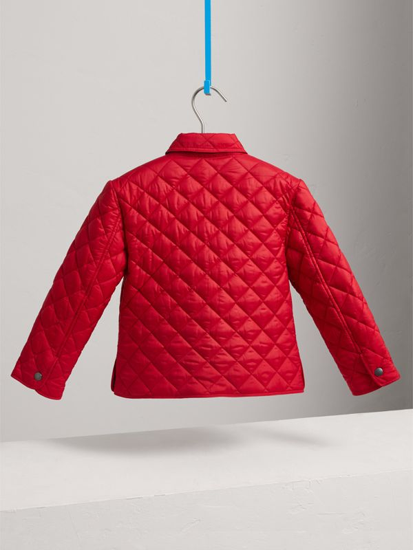 Diamond Quilted Jacket in Bright Cherry Red - Boy | Burberry - cell image 3