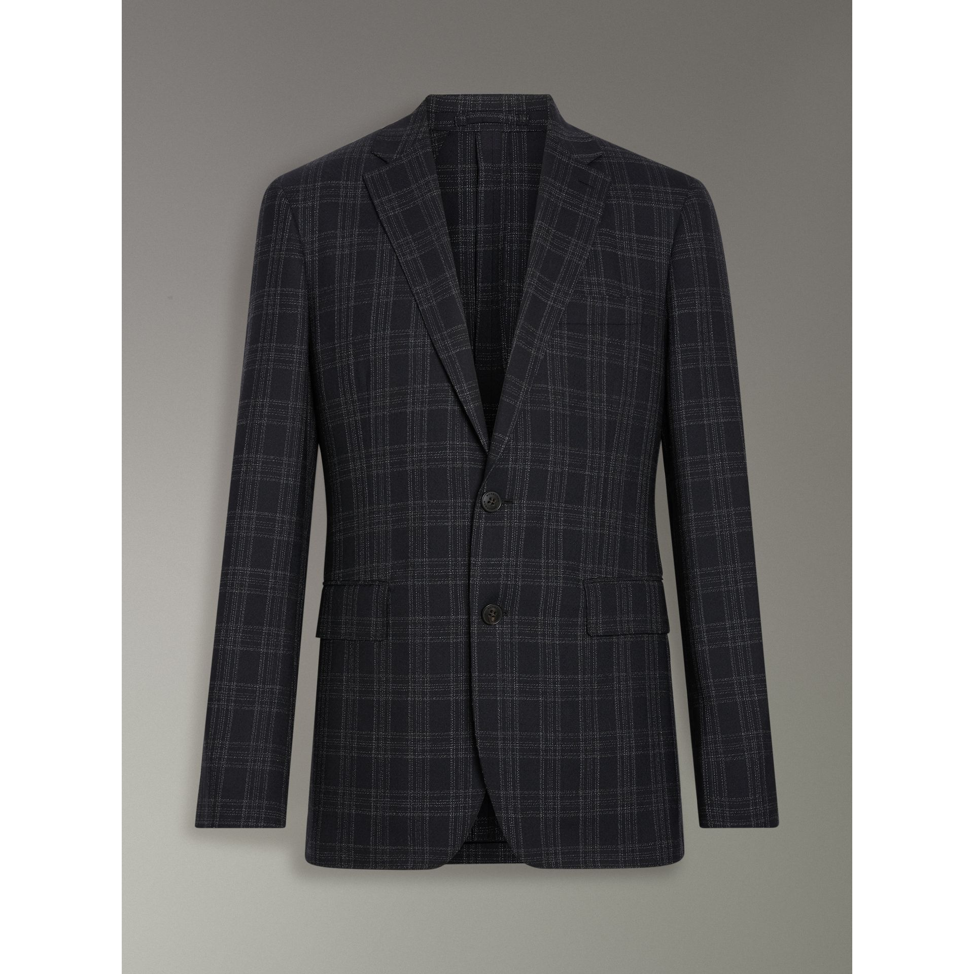 Soho Fit Check Wool Suit in Black - Men | Burberry United Kingdom - gallery image 3