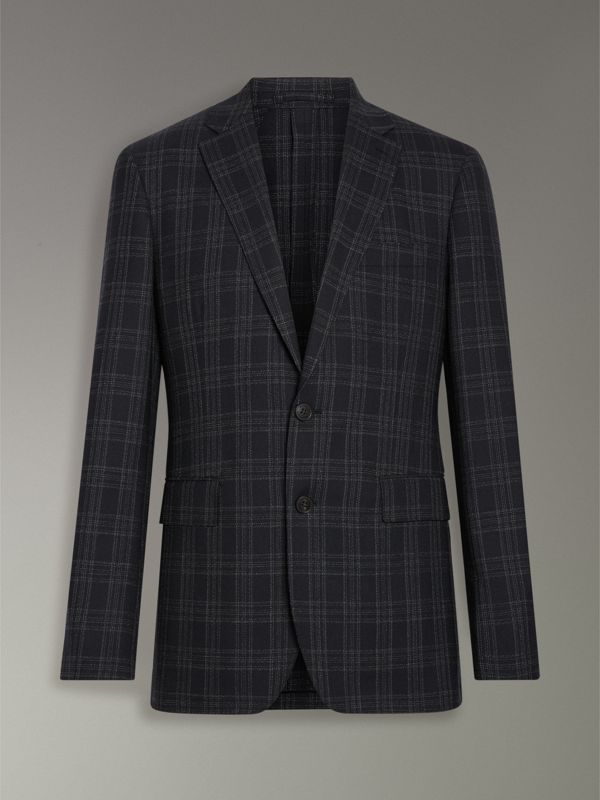 Soho Fit Check Wool Suit in Black - Men | Burberry - cell image 3