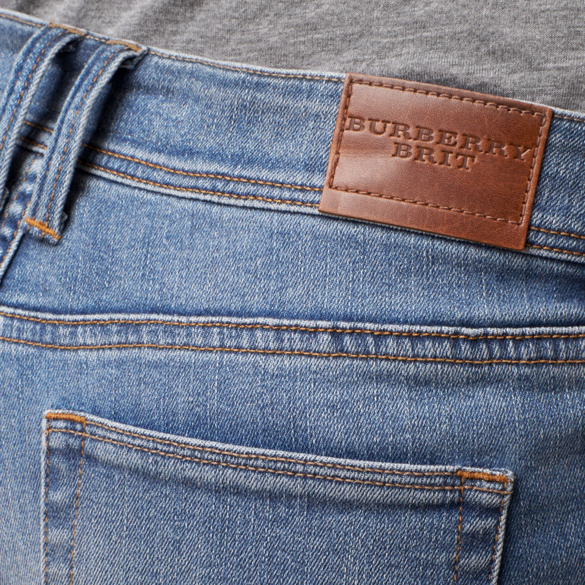 Skinny Low-Rise Vintage Wash Jeans - Women | Burberry - gallery image 2