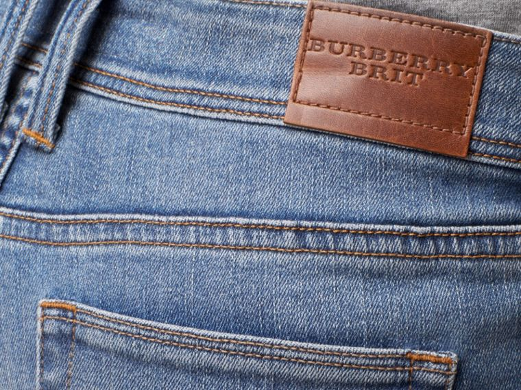 Skinny Low-Rise Vintage Wash Jeans - Women | Burberry - cell image 1