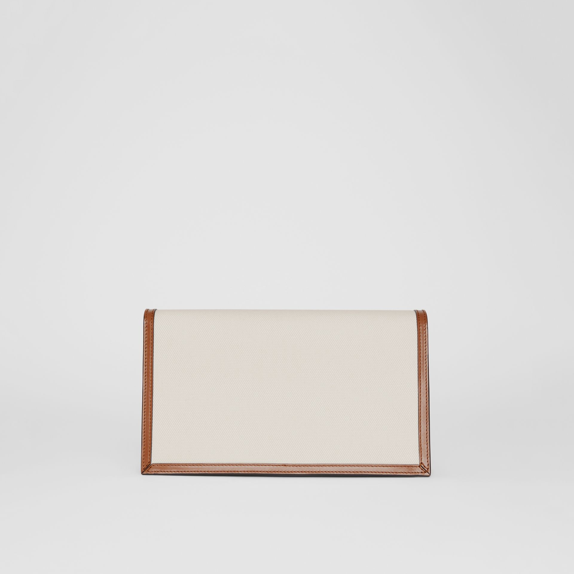 Small Canvas and Leather TB Envelope Clutch in Natural - Women | Burberry - gallery image 6