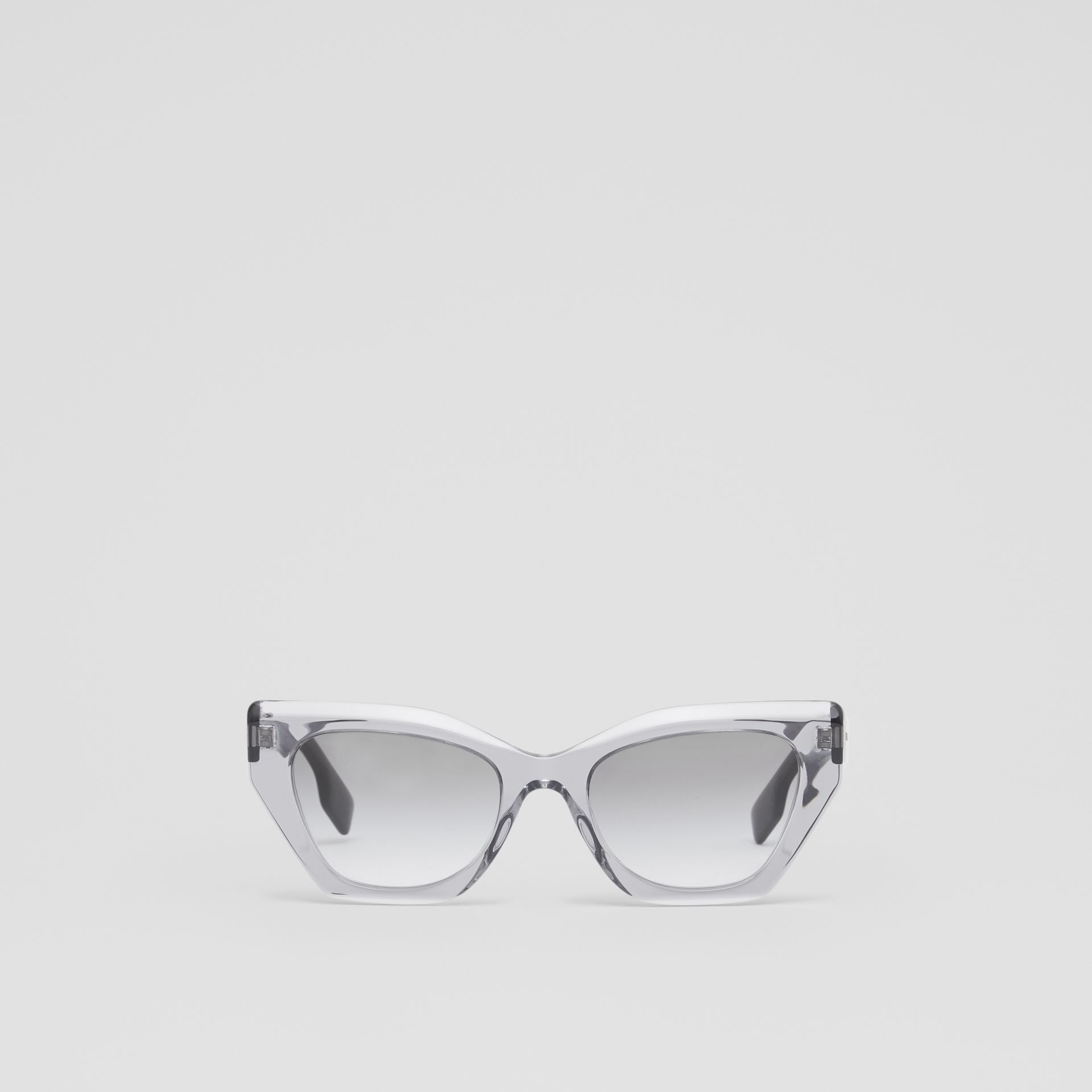 Butterfly Frame Sunglasses in Grey - Women | Burberry - gallery image 0