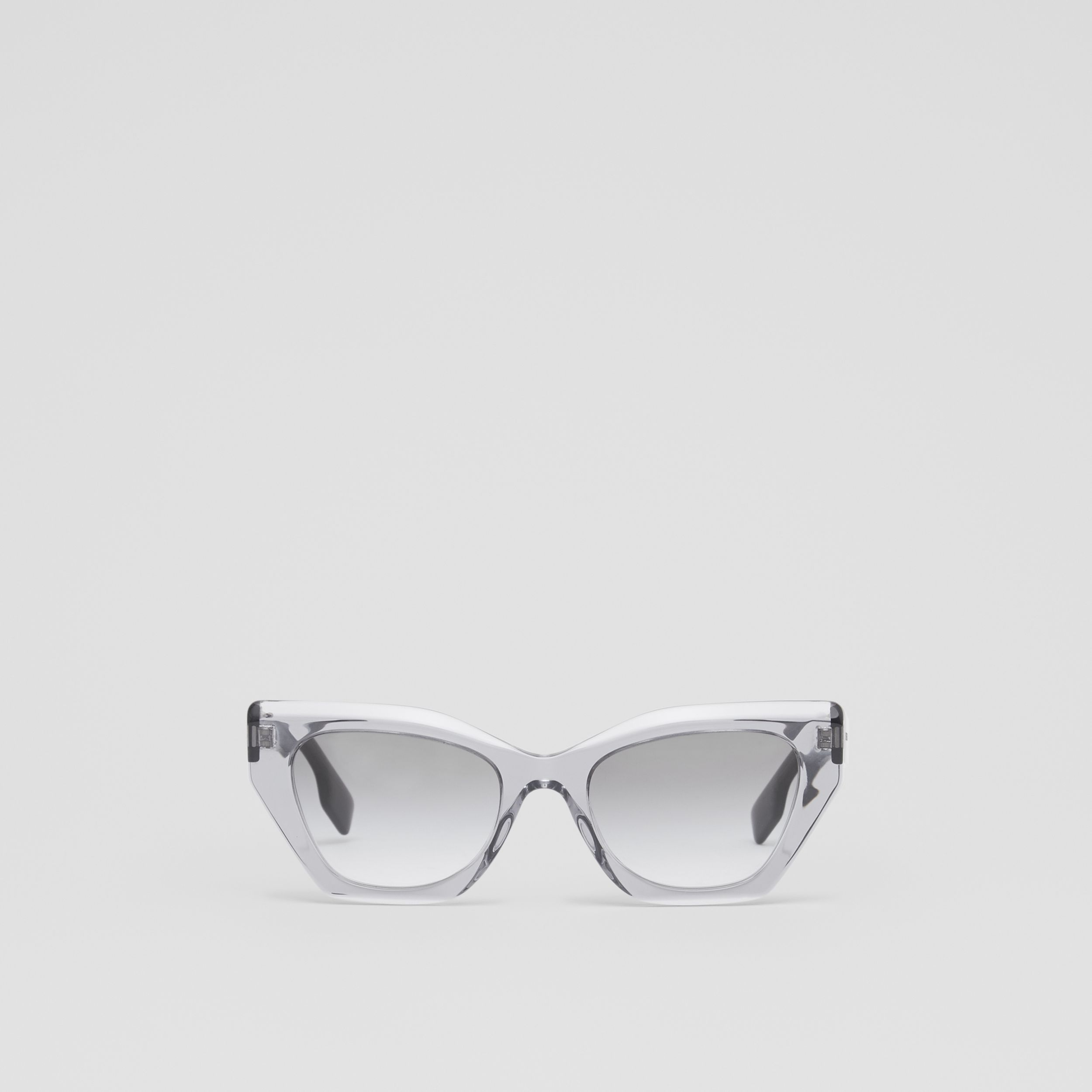 Butterfly Frame Sunglasses in Grey - Women | Burberry - 1