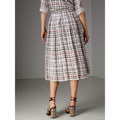 Scribble Check silk dress Burberry Cheap Get Authentic Cost Cheap Online Sast Really ubK2tgTId