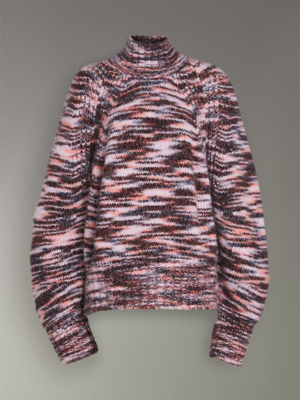 Cashmere Silk Mouliné Sweater in Light Pink - Women | Burberry - cell image 3