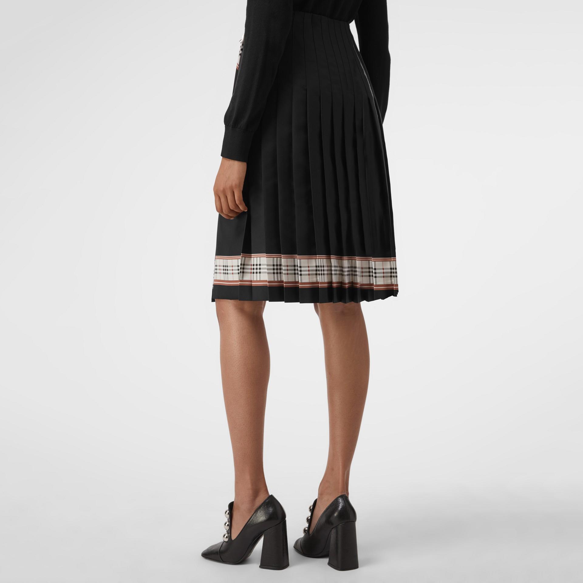 Saia estilo kilt com estampa de lenços (Multicolorido) - Mulheres | Burberry - galeria de imagens 2