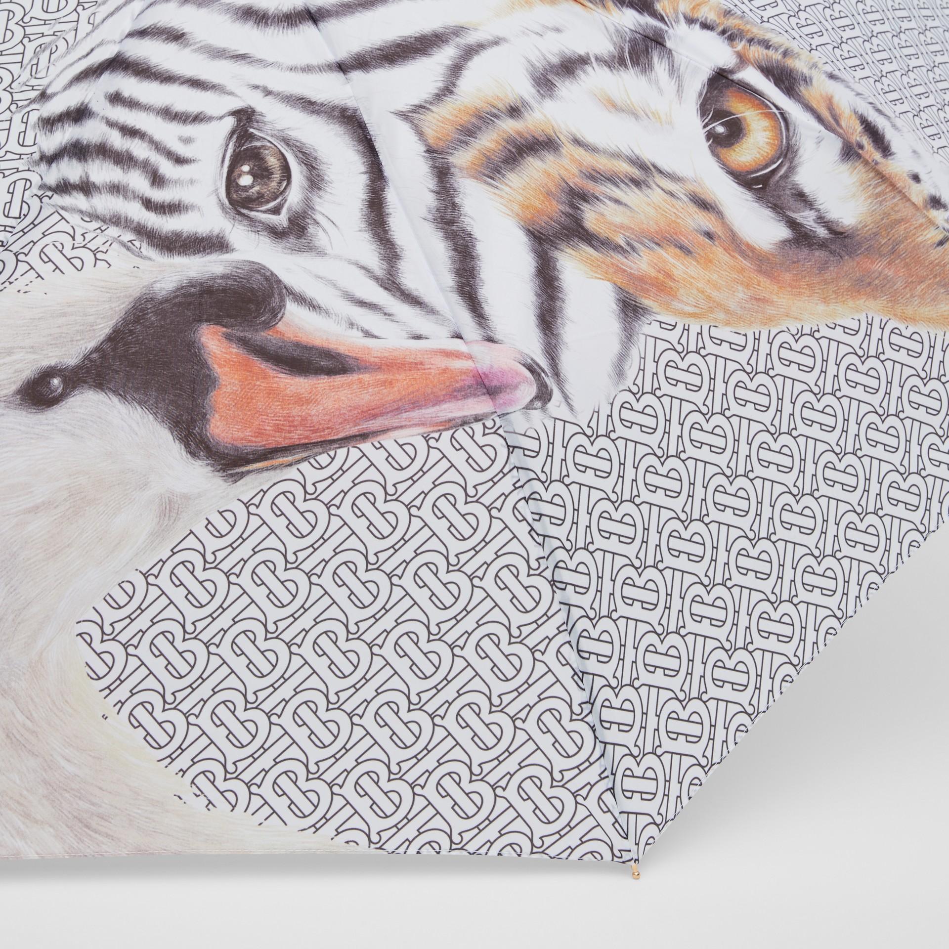 Animalia Print Folding Umbrella - Women | Burberry Australia - gallery image 1