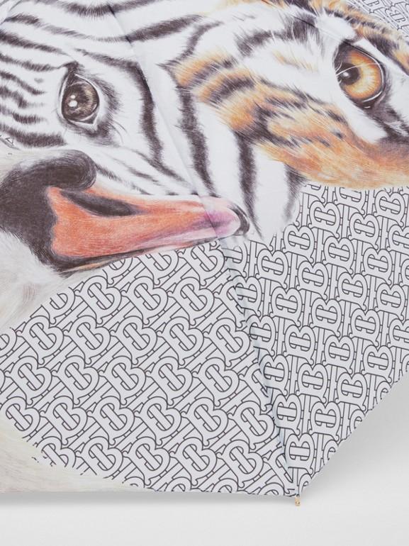 Animalia Print Folding Umbrella - Women | Burberry Australia - cell image 1