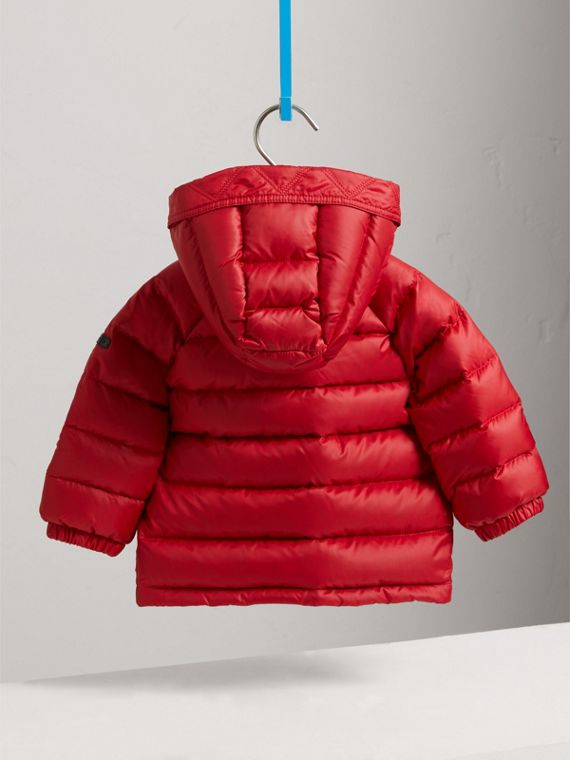 Doudoune courte imperméable à capuche (Rouge Parade) | Burberry Canada - cell image 3