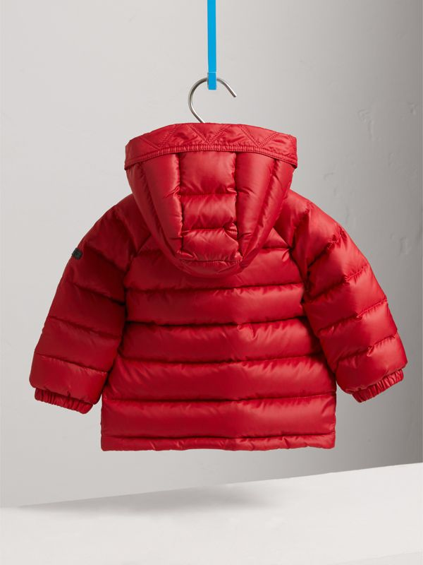 Shower-resistant Hooded Puffer Jacket in Parade Red | Burberry Canada - cell image 3