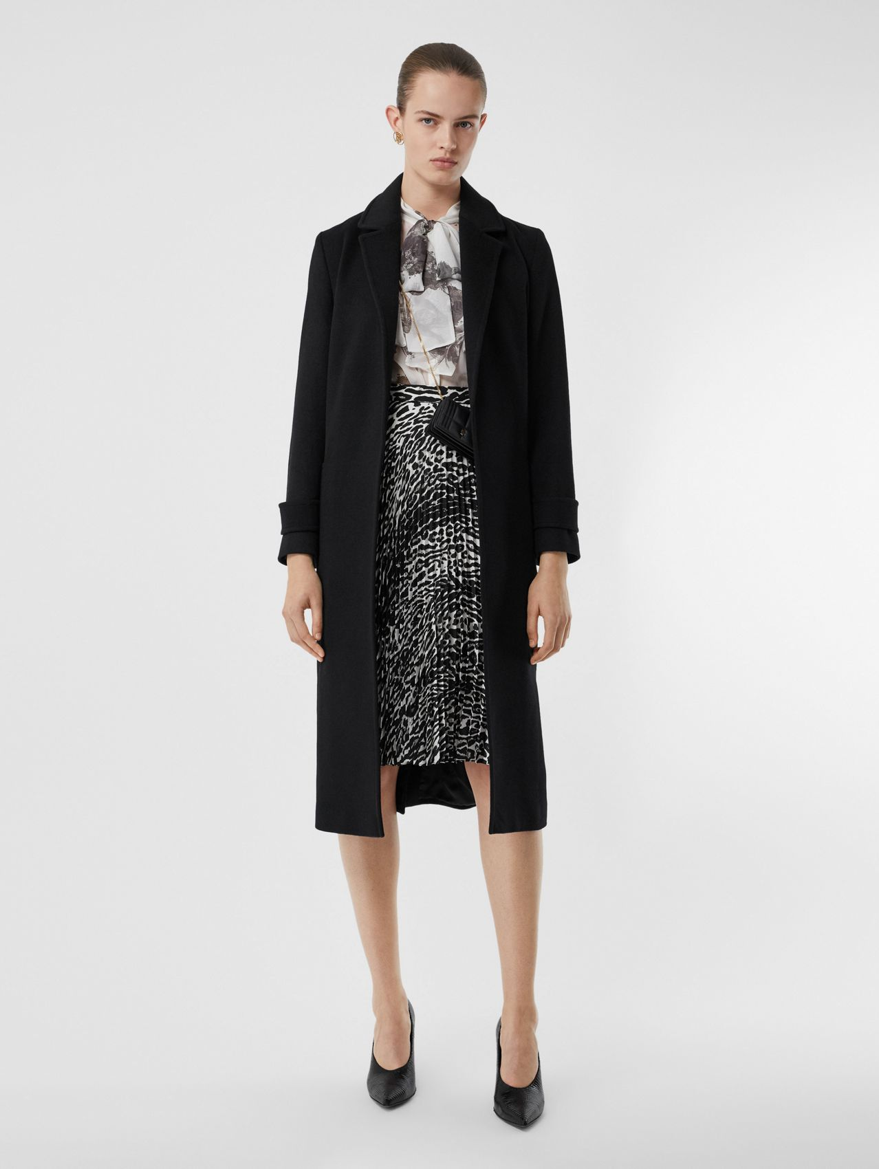Cashmere Wrap Coat (Black)
