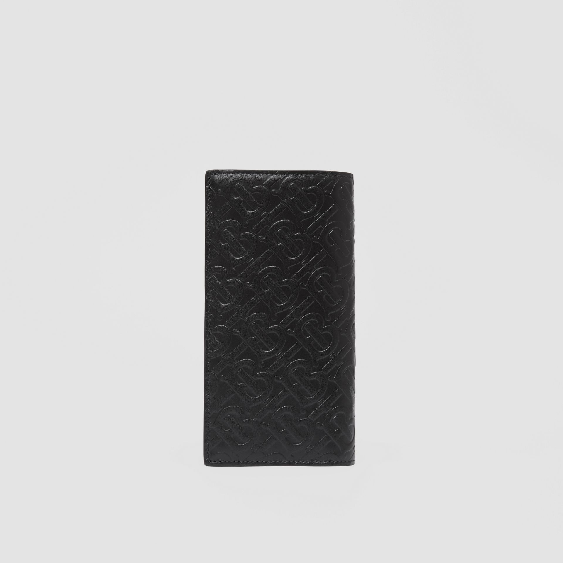 Monogram Leather Continental Wallet in Black - Men | Burberry United Kingdom - gallery image 4