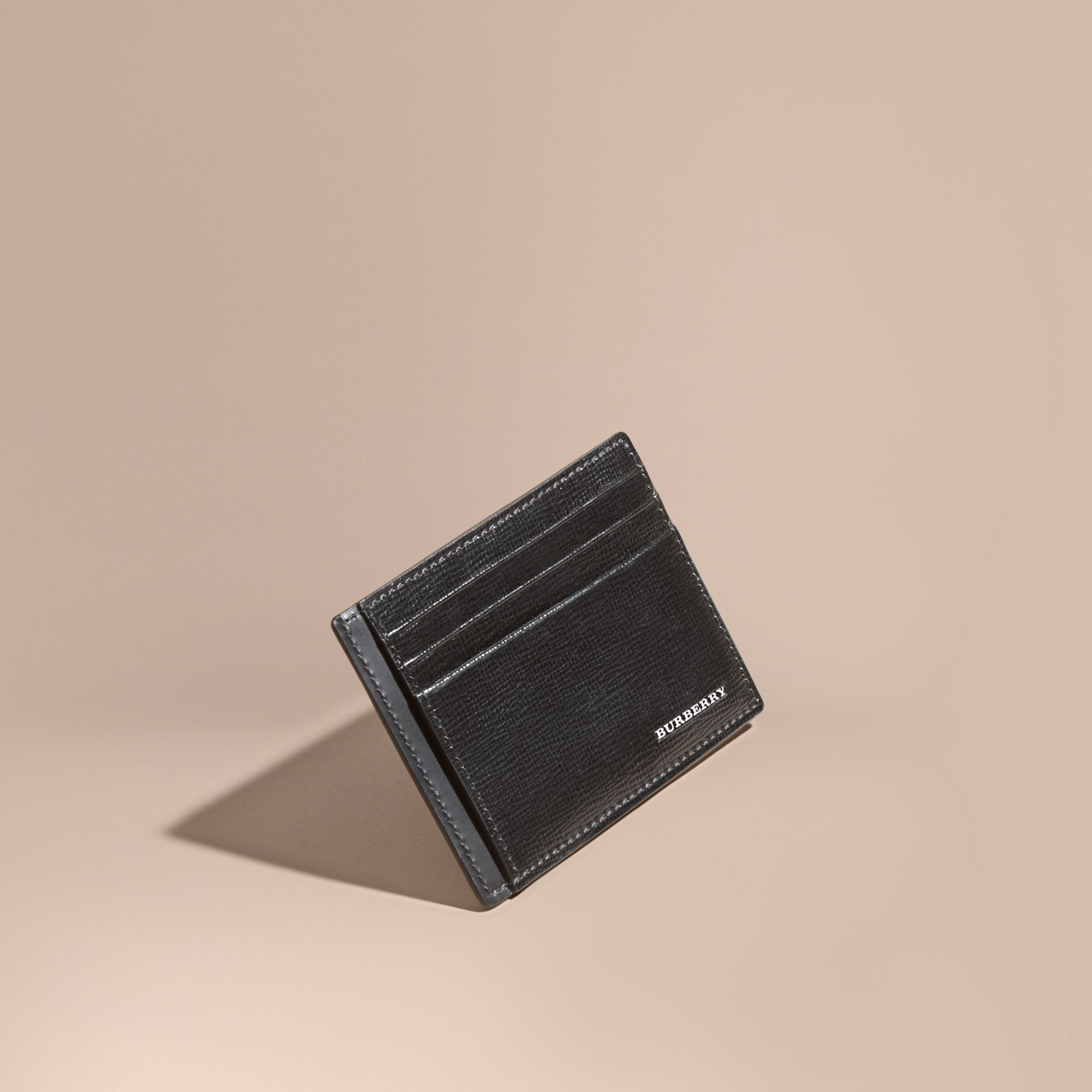 London Leather Card Case in Black | Burberry Singapore - gallery image 1