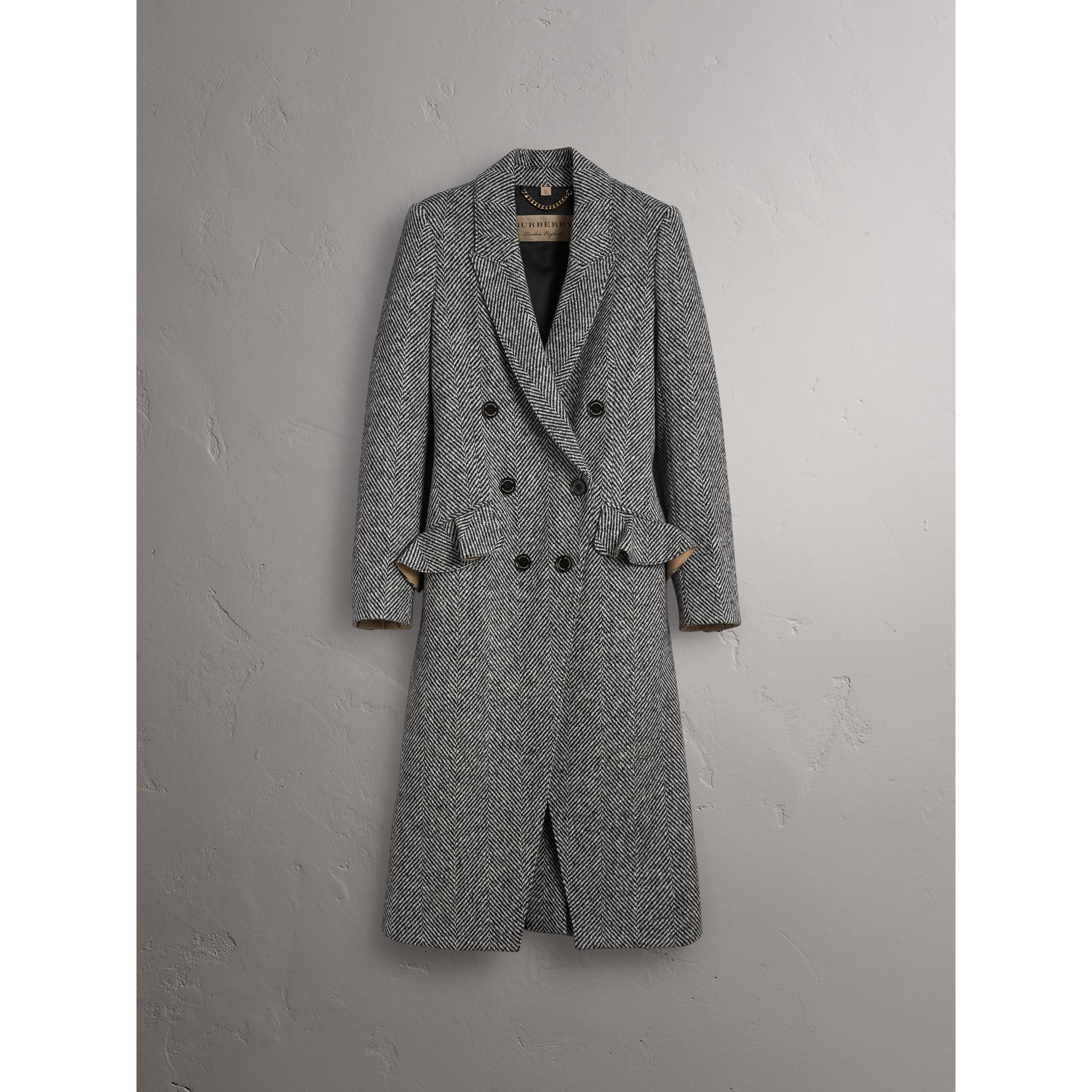 Donegal Herringbone Wool Tweed Tailored Coat - Women | Burberry - gallery image 4