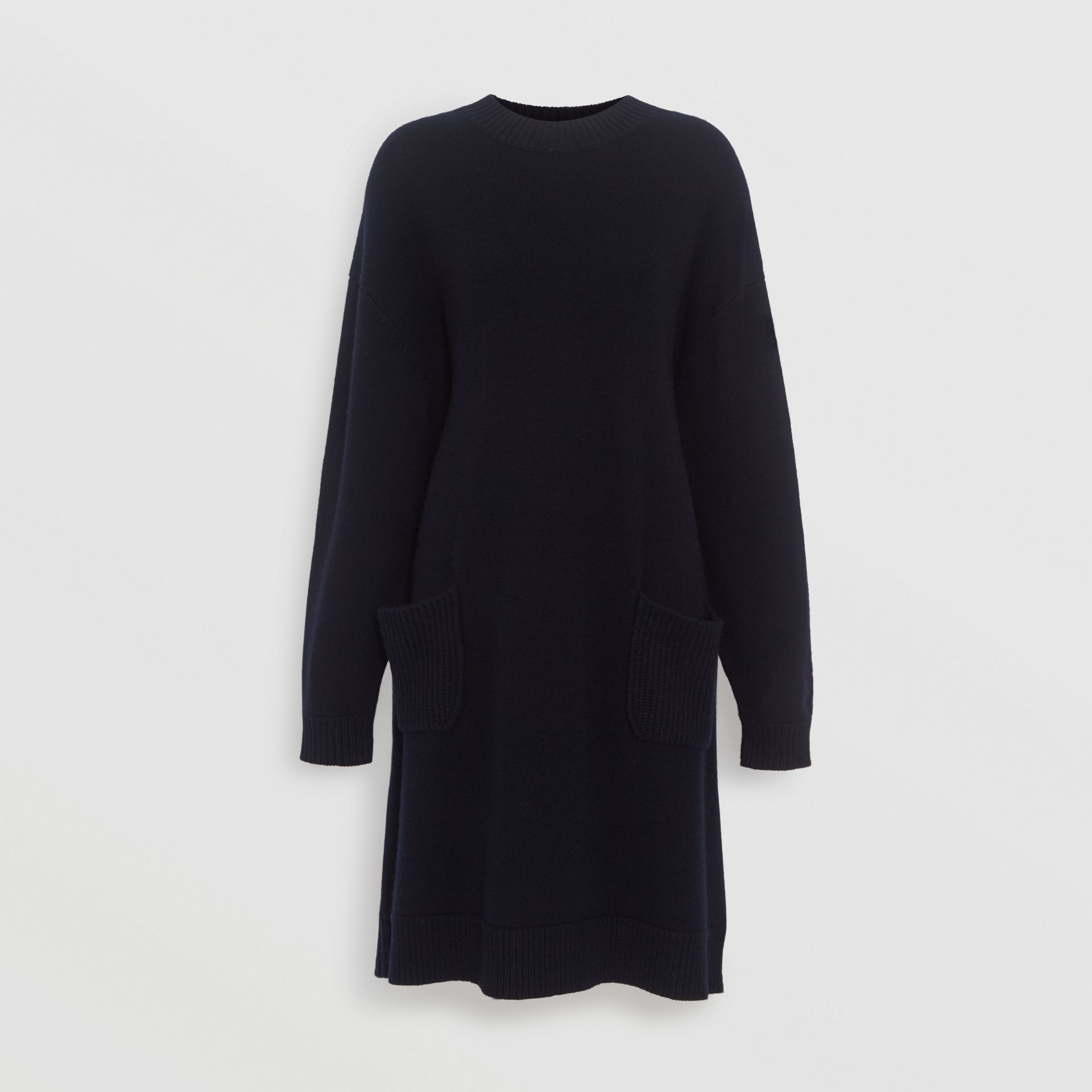 Cashmere Sweater Dress in Navy - Women | Burberry Australia - gallery image 3