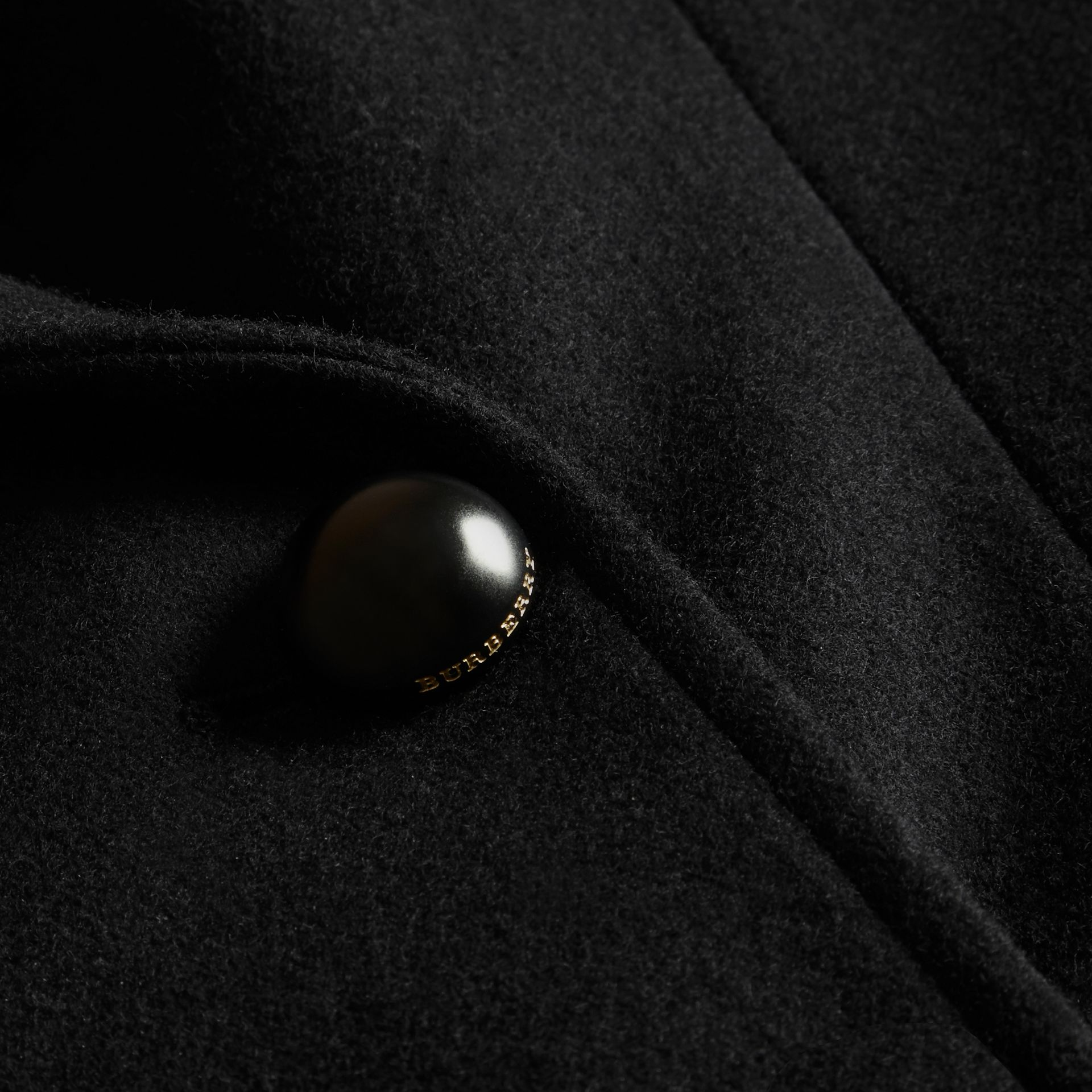 Tailored Wool Blend Jacket in Black - Women | Burberry - gallery image 2